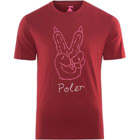 POLER Peace Paw Bluzka z krótkim rękawem Mężczyźni czerwony